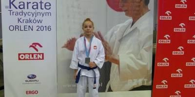 II Puchar Świata Dzieci w Karate Tradycyjnym- Kraków 2016 i II miejsce naszej zawodniczki.